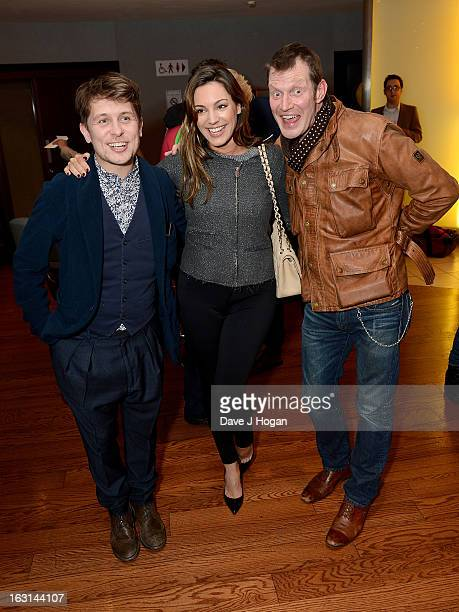 Mark Owen Kelly Brook and Jason Flemyng attend the 'Welcome To The Punch' UK Premiere at the Vue West End on March 5 2013 in London England