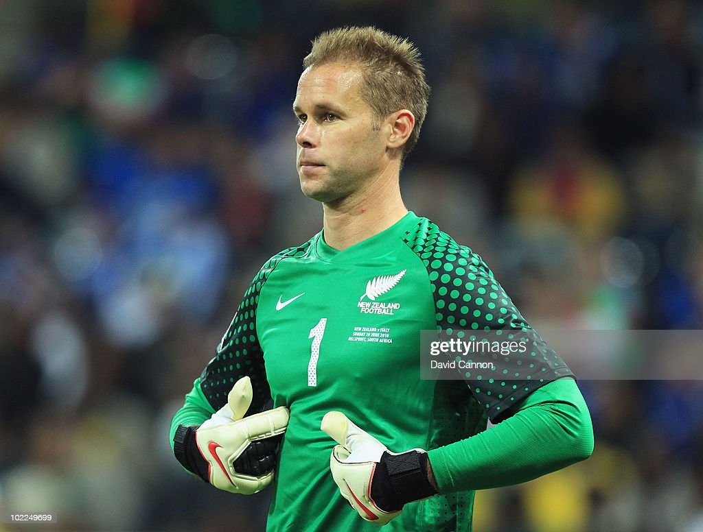 Mark Paston of New Zealand reacts during the 2010 FIFA World Cup South Africa Group F match between Italy and New Zealand at the Mbombela Stadium on June 20, 2010 in Nelspruit, South Africa.