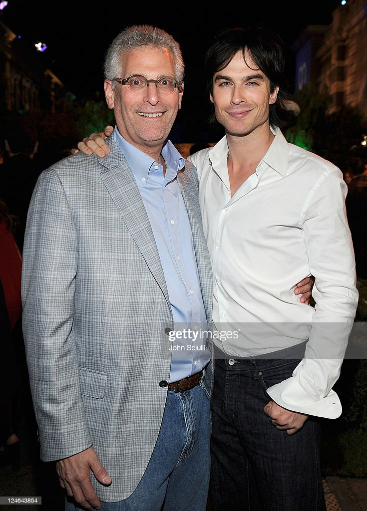 Mark Pedowitz and <a gi-track='captionPersonalityLinkClicked' href=/galleries/search?phrase=Ian+Somerhalder&family=editorial&specificpeople=614226 ng-click='$event.stopPropagation()'>Ian Somerhalder</a> attend the CW launch party presented by Bing at Warner Bros. Studios on September 10, 2011 in Burbank, California.