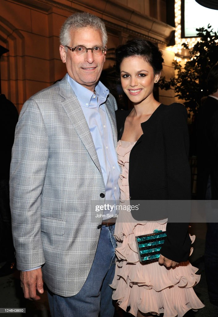 Mark Pedowitz and <a gi-track='captionPersonalityLinkClicked' href=/galleries/search?phrase=Rachel+Bilson&family=editorial&specificpeople=202655 ng-click='$event.stopPropagation()'>Rachel Bilson</a> attend the CW launch party presented by Bing at Warner Bros. Studios on September 10, 2011 in Burbank, California.