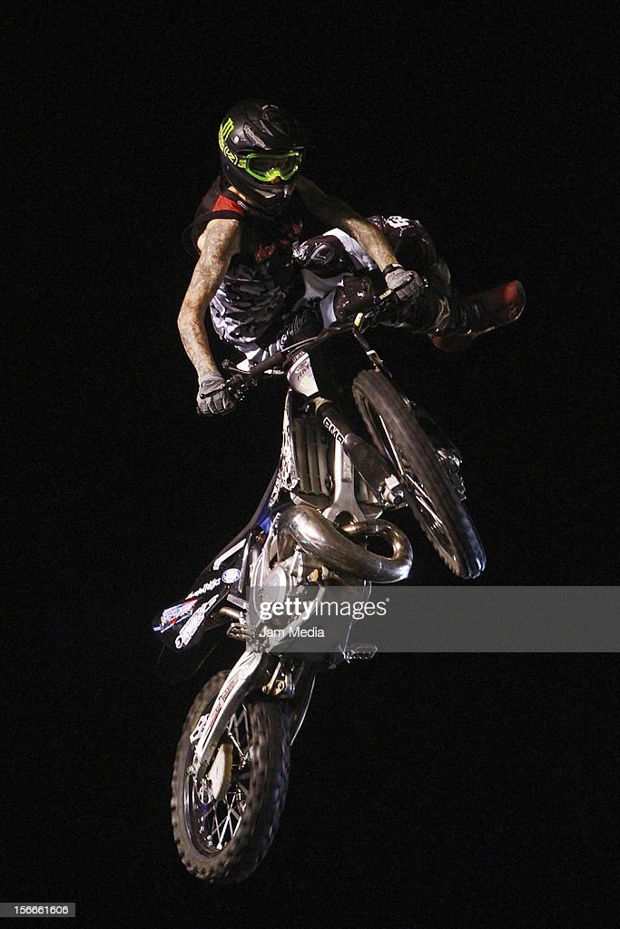 Mark Phillips of Canada in action during the Xpilots - World Freestyle Motocross at Foro Sol on November 17, 2012 in Mexico City, Mexico
