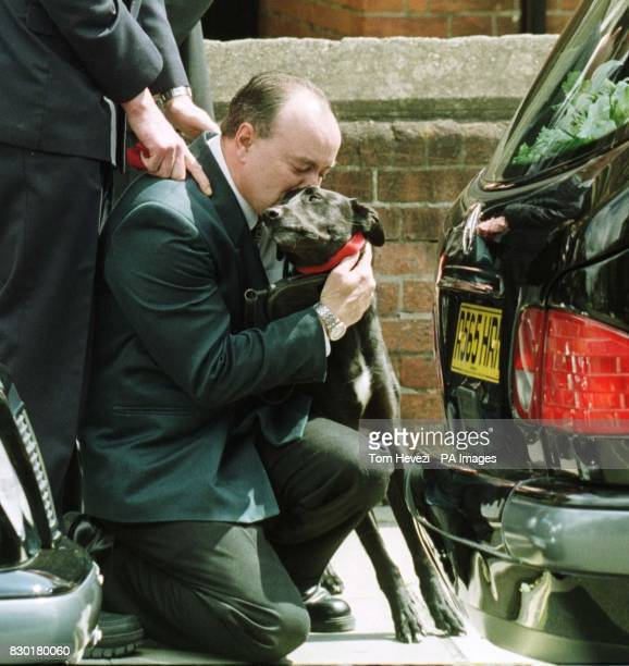 Mark Piggin and John Light's dog Ben outside John's funeral service at the Wimpole Road Methodist Church in Colchester John Light was one of three...