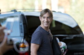 Mark Pincus chairman and cofounder of Zynga Inc arrives at the Sun Valley Lodge ahead of the Allen Co Media and Technology Conference in Sun Valley...