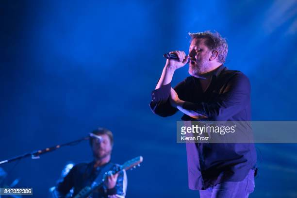Mark Potter and Guy Garvey of Elbow perform at Electric Picnic Festival at Stradbally Hall Estate on September 3 2017 in Laois Ireland