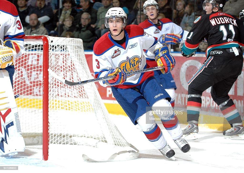 Mark Pysyk of the Edmonton Oil Kings skates against the Kelowna Rockets at Prospera Place on December 4 2009 in Kelowna Canada