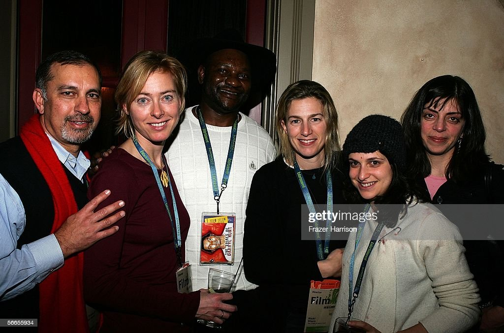 Mark Rabil, Annie Sunzberg, Darryl Hunt, Ricki Stern, Katie Brown, and Nancy Abraham of the production of 'The Trials of Darryl Hunt' arrive to the Cinetic Media Party at the Sundance Film Festival held at Zoom on January 23, 2006 in Park City, Utah.