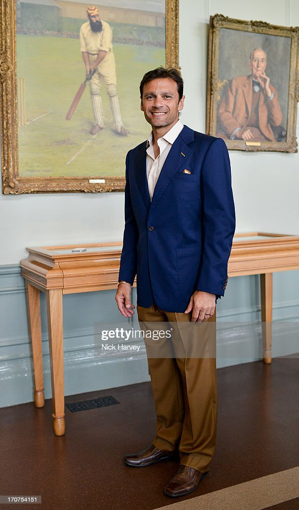 <a gi-track='captionPersonalityLinkClicked' href=/galleries/search?phrase=Mark+Ramprakash&family=editorial&specificpeople=240276 ng-click='$event.stopPropagation()'>Mark Ramprakash</a> attends the Savile Row & St James's Presentation during the London Collections: MEN SS14 at Lord's Cricket Ground on June 17, 2013 in London, England.