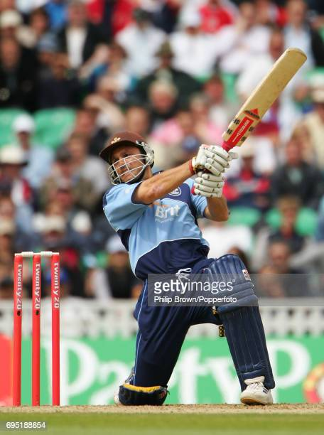 Mark Ramprakash of Surrey in batting action during the Twenty20 Cup semifinal between Lancashire and Surrey at the Brit Oval in London on July 30 2005