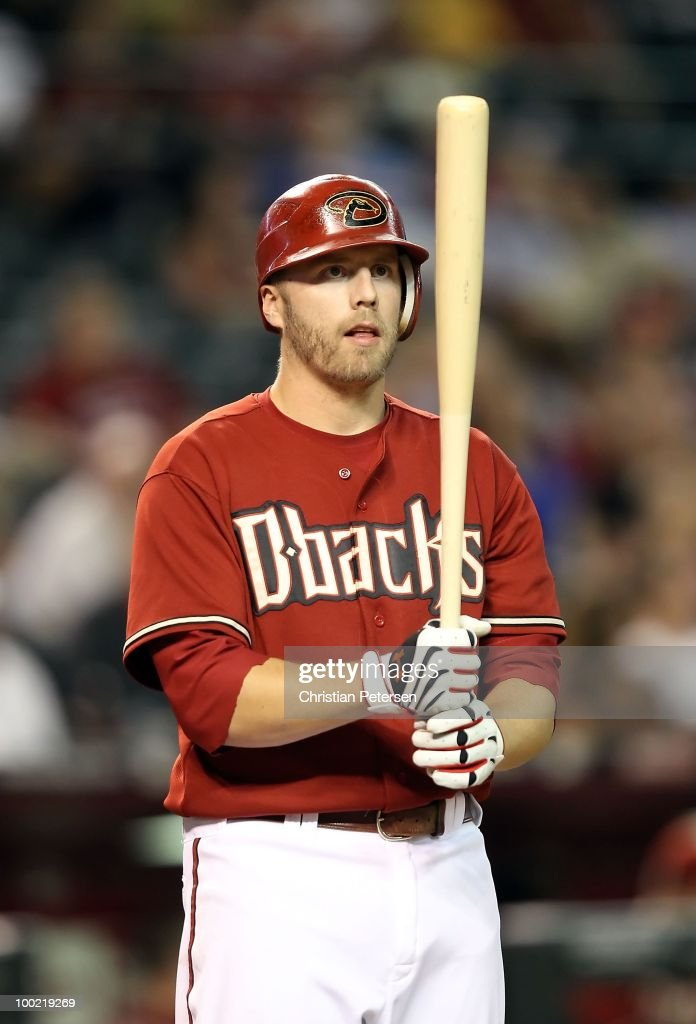 Mark Reynolds #27 of the Arizona Diamondbacks bats against the San Francisco Giants during the Major League Baseball game at Chase Field on May 19, 2010 in Phoenix, Arizona. The Diamondbacks defeated the Giants 13-1.