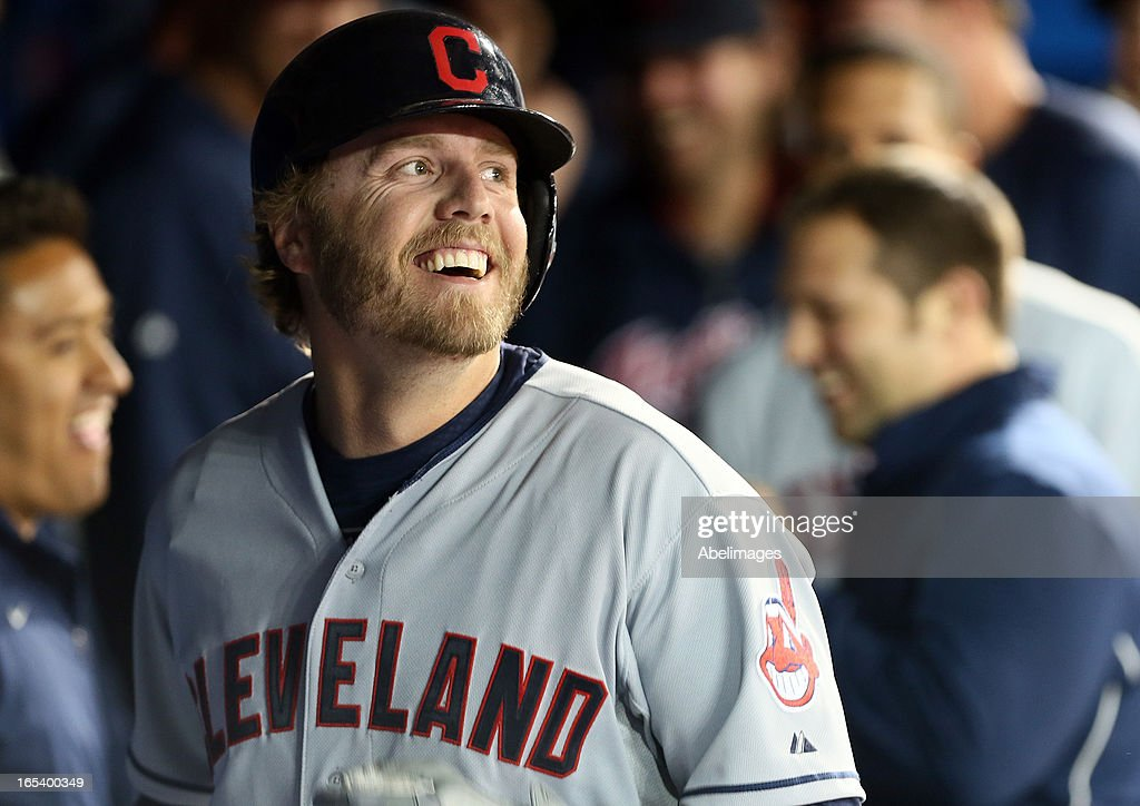 <a gi-track='captionPersonalityLinkClicked' href=/galleries/search?phrase=Mark+Reynolds&family=editorial&specificpeople=2343799 ng-click='$event.stopPropagation()'>Mark Reynolds</a> #12 of the Cleveland Indians celebrates his game-winning homer against the Toronto Blue Jays in the 11th inning during MLB action at the Rogers Centre April 3, 2013 in Toronto, Ontario, Canada.