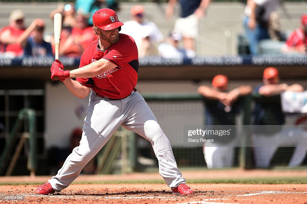 <a gi-track='captionPersonalityLinkClicked' href=/galleries/search?phrase=Mark+Reynolds+-+Baseball+Player&family=editorial&specificpeople=2343799 ng-click='$event.stopPropagation()'>Mark Reynolds</a> #12 of the St. Louis Cardinals swings at a pitch during a spring training game against the Houston Astros at Osceola County Stadium on March 10, 2015 in Kissimmee, Florida.