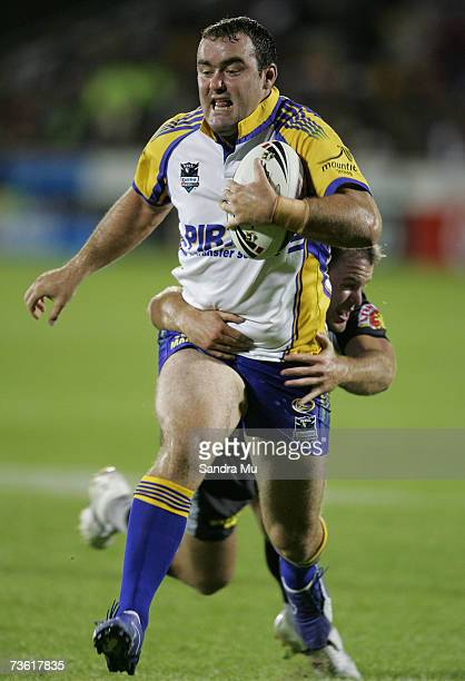 Mark Riddell of Paramatta in action during the round one NRL match between the Warriors and the Parramatta Eels at Mount Smart Stadium March 17 2007...