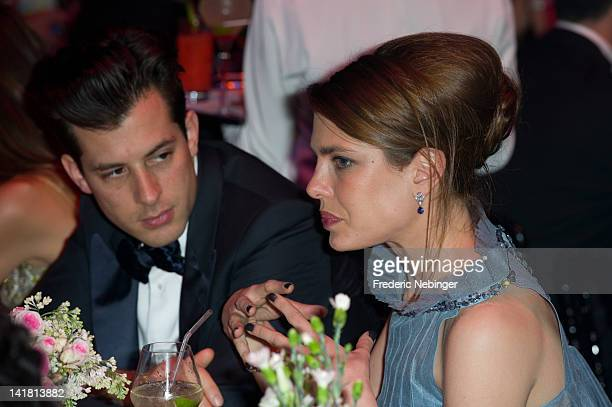 Mark Ronsom and Charlotte Casiraghi attending the 'Swinging London' Monaco Rose Ball 2012 on March 24 2012 in MonteCarlo Monaco