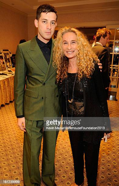 Mark Ronson and Ann DexterJones attend the 2013 Amy Winehouse Foundation Inspiration Awards and Gala at The Waldorf=Astoria on March 21 2013 in New...