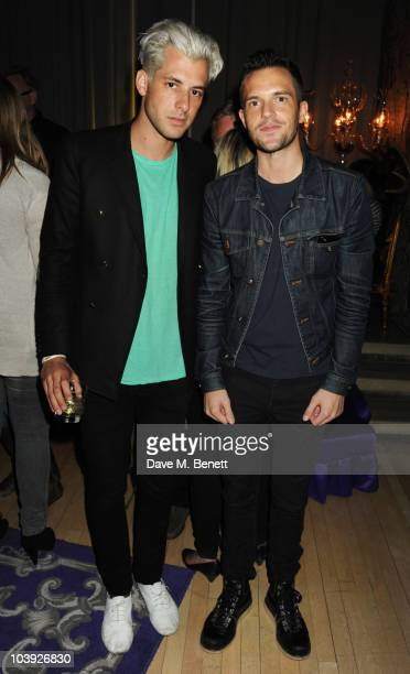 Mark Ronson and Brandon Flowers attend party to celebrate Brandon Flowers' UK number one CD at the Sanderson Hotel on September 8 2010 in London...