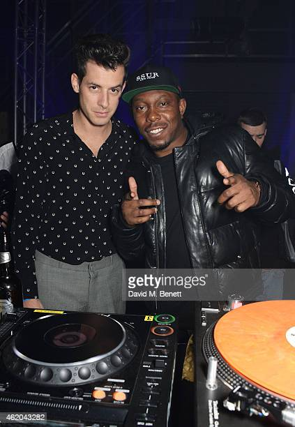 Mark Ronson and DIzzee Rascal attend as Mark Ronson hosts a party to celebrate the launch of his new album Uptown Special at Television Centre White...