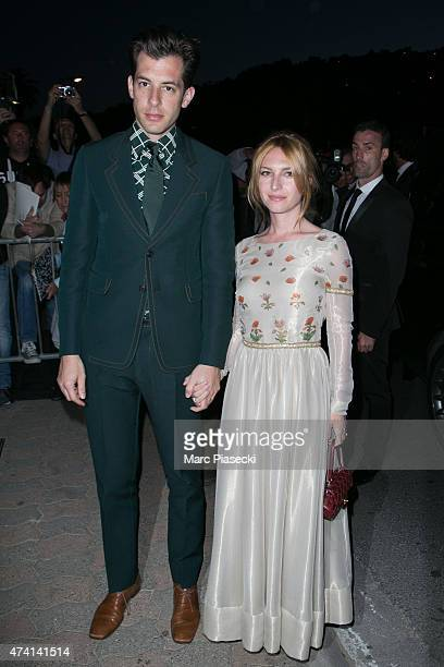 Mark Ronson and Josephine de la Baume attend the 'CHANEL' dinner at 'Tetou' restaurant during the 68th annual Cannes Film Festival on May 20 2015 in...