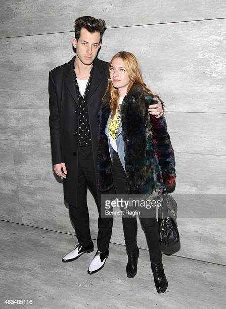 Mark Ronson and Josephine de La Baume attends Charlotte Ronson Front Row Backstage MercedesBenz Fashion Week Fall 2015 at The Salon at Lincoln Center...