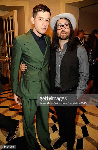 Mark Ronson and Sean Lennon attend the 2013 Amy Winehouse Foundation Inspiration Awards and Gala at The Waldorf=Astoria on March 21 2013 in New York...