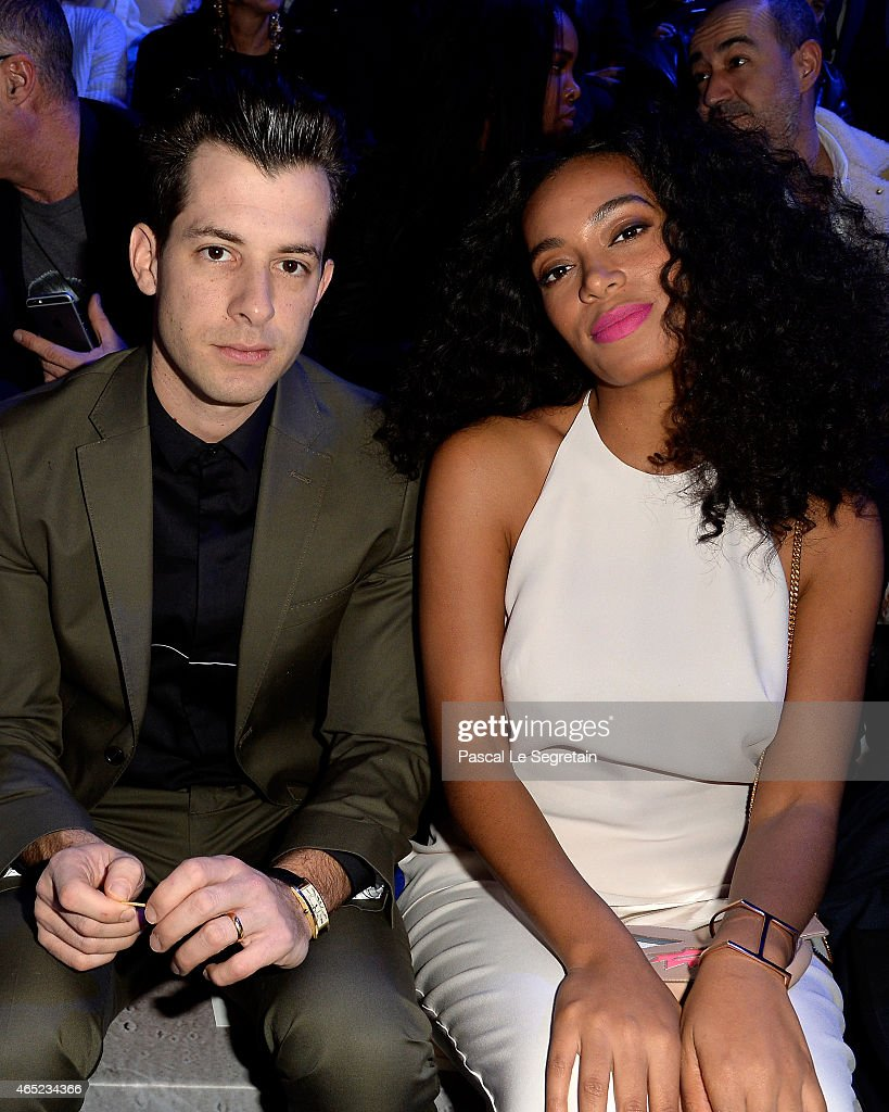 Mark Ronson and Solange Knowles attend the HM show as part of the Paris Fashion Week Womenswear Fall/Winter 2015/2016 on March 4 2015 in Paris France