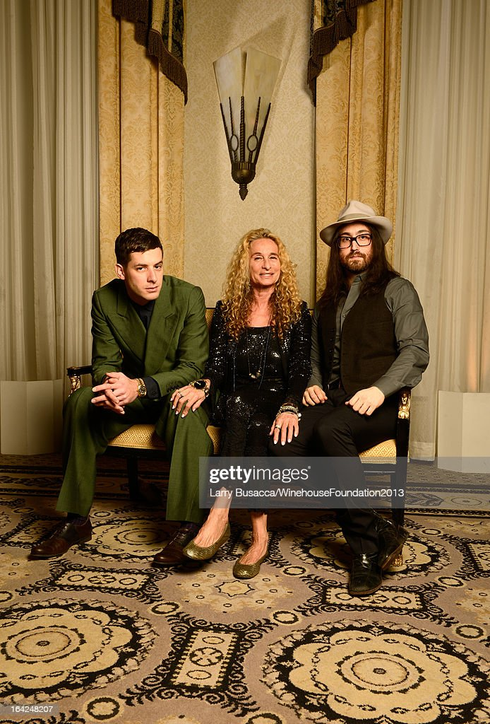 Mark Ronson, Ann Dexter-Jones, and Sean Lennon pose for a portrait during the 2013 Amy Winehouse Foundation Inspiration Awards and Gala at The Waldorf=Astoria on March 21, 2013 in New York City.