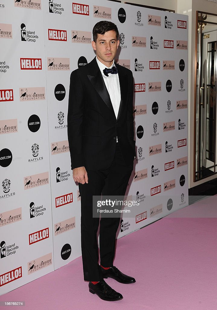 Mark Ronson attends The Amy Winehouse Foundation Ball on November 20, 2012 in London, England.