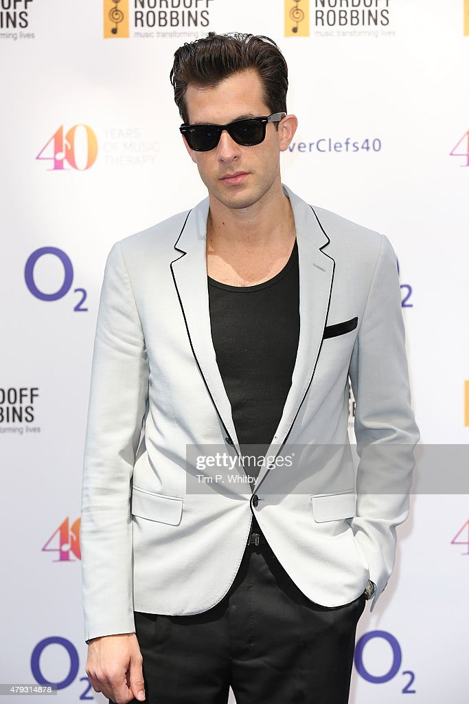 Mark Ronson attends the Nordoff Robbins 02 Silver clef Awards at The Grosvenor House Hotel on July 3, 2015 in London, England.