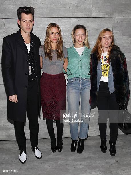 Mark Ronson designer Charlotte Ronson Annabelle Dexter Jones and Joséphine de La Baume attend the Charlotte Ronson fashion show during MercedesBenz...
