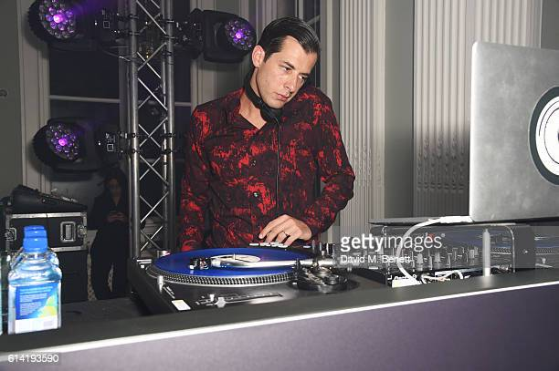 Mark Ronson DJs at the launch of the Esquire Townhouse with Dior on October 12 2016 in London England
