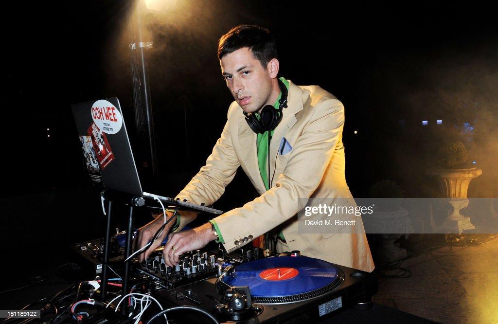 Mark Ronson DJ's at the MARTINI 150 anniversary gala at Villa Erba, Lake Como on September 19, 2013 in Como, Italy.
