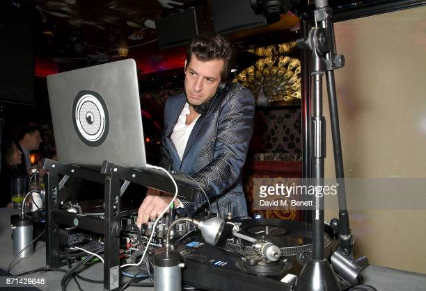 Mark Ronson DJs at the Richard James 25th Anniversary event hosted by Richard James Charles S Cohen and Sean Dixon at Loulou's on November 7 2017 in...