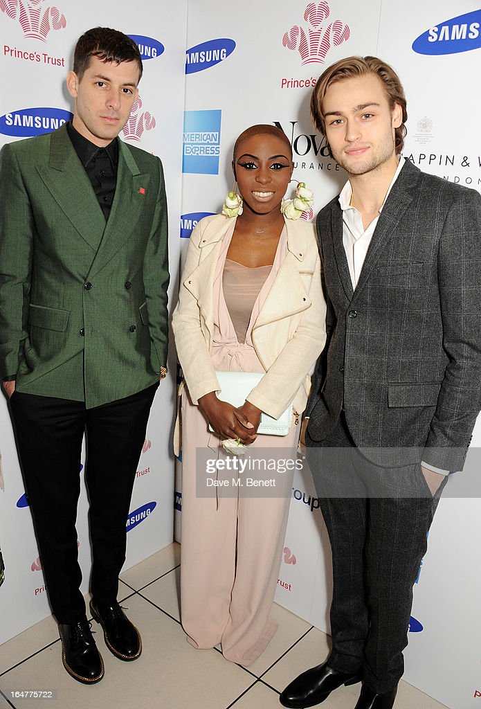 Mark Ronson, Laura Mvula and Douglas Booth attend The Prince's Trust & Samsung Celebrate Success Awards at Odeon Leicester Square on March 26, 2013 in London, England.
