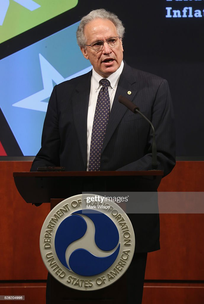 Mark Rosekind, Administrator of the National Highway Traffic Safety Administration, speaks during a news conference on Takata airbags at the Department of Transportation, May 4, 2016 in Washington, DC. Rosekind announced that Takata will expand its recall to at least another 35 million rupture-prone air-bag inflators that U.S. regulators have deemed a safety risk.