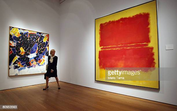 Mark Rothko's 'Number 15' valued at $40 million is seen at a press preview for Christie's New York Impressionist and Modern Art Evening Sale and...