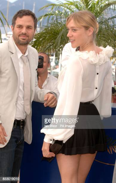 Mark Ruffalo and Chloe Sevigny pose for photographers during a photocall for Zoidiac Picture date Thursday 17 May 2007 Photo credit should read Ian...