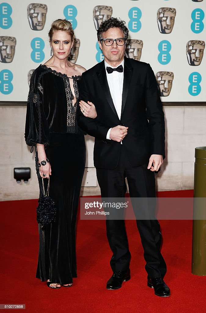 Mark Ruffalo and Sunrise Coigney attend the official After Party Dinner for the EE British Academy Film Awards at The Grosvenor House Hotel on February 14, 2016 in London, England.