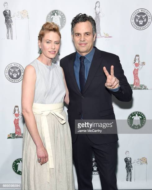 Mark Ruffalo and Sunrise Coigny attend The Turtle Conservancy's Fourth Annual Turtle Ballat The Bowery Hotel on April 17 2017 in New York City