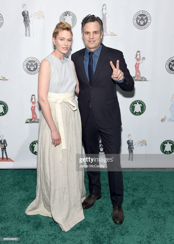 Mark Ruffalo (right) and Sunrise Coigny attend The Turtle Conservancy's Fourth Annual Turtle Ballat The Bowery Hotel on April 17, 2017 in New York City.
