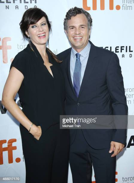 Mark Ruffalo and wife Sunrise Coigney arrive at the premiere of Foxcatcher held during the 2014 Toronto International Film Festival Day 5 on...