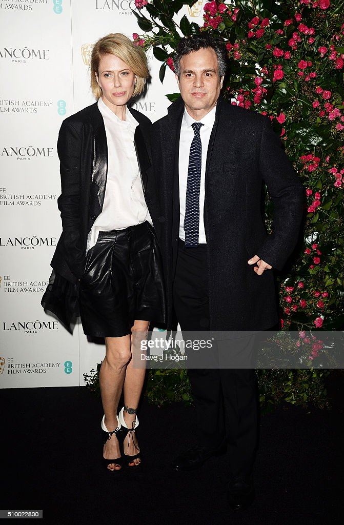<a gi-track='captionPersonalityLinkClicked' href=/galleries/search?phrase=Mark+Ruffalo&family=editorial&specificpeople=209317 ng-click='$event.stopPropagation()'>Mark Ruffalo</a> (L) and wife <a gi-track='captionPersonalityLinkClicked' href=/galleries/search?phrase=Sunrise+Coigney&family=editorial&specificpeople=235782 ng-click='$event.stopPropagation()'>Sunrise Coigney</a> attend the Lancome BAFTA nominees party at Kensington Palace on February 13, 2016 in London, England.