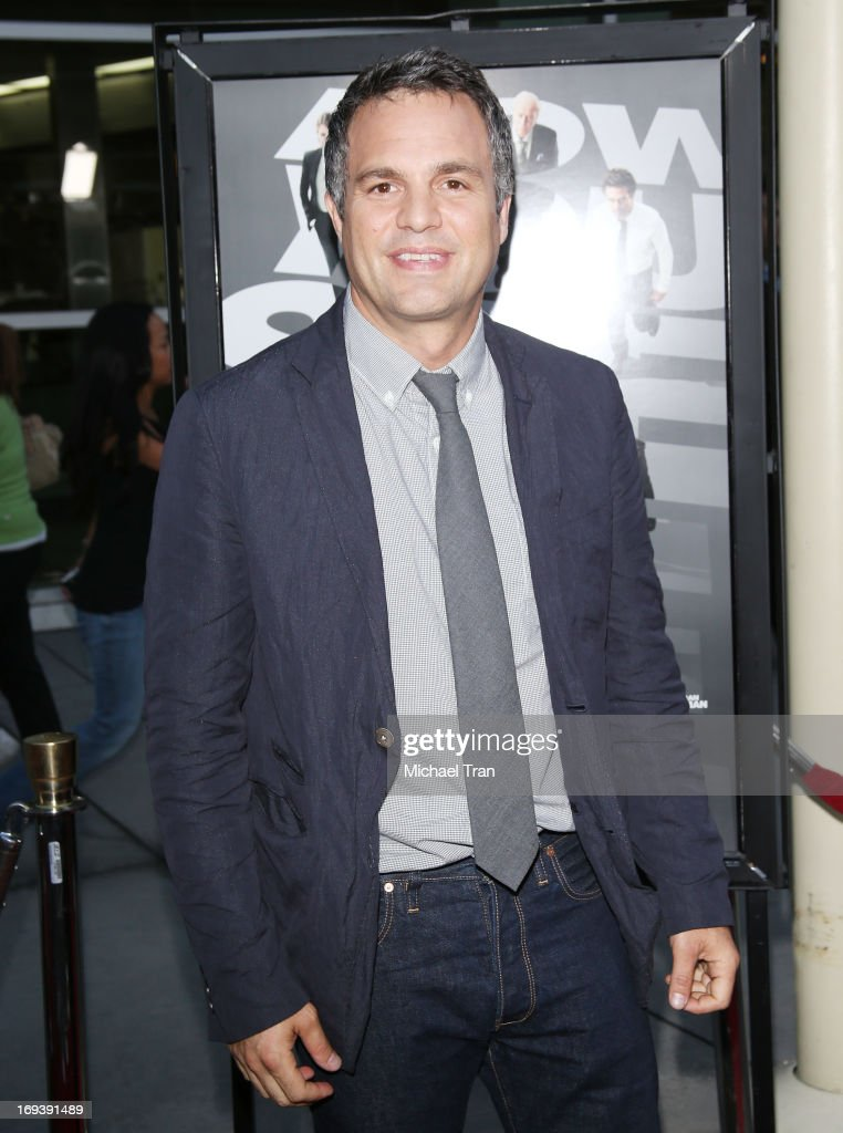<a gi-track='captionPersonalityLinkClicked' href=/galleries/search?phrase=Mark+Ruffalo&family=editorial&specificpeople=209317 ng-click='$event.stopPropagation()'>Mark Ruffalo</a> arrives at the Los Angeles special screening of 'Now You See Me' held at ArcLight Hollywood on May 23, 2013 in Hollywood, California.