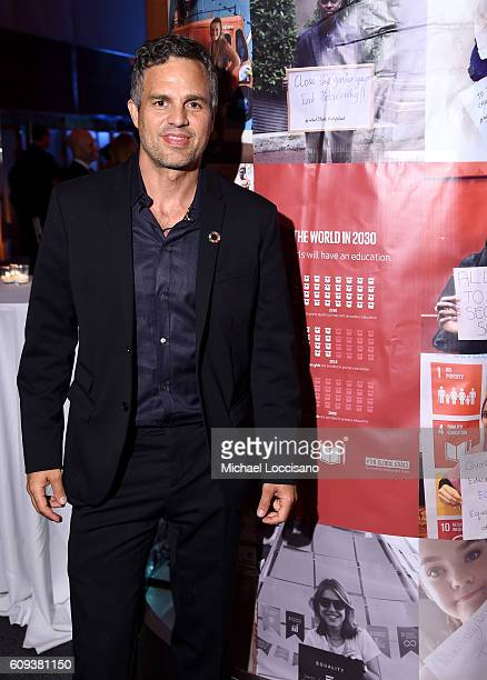 Mark Ruffalo attends 2016 Global Goals Awards Dinner at Gustavino's on September 20 2016 in New York City