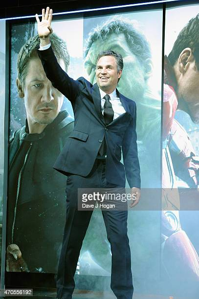 Mark Ruffalo attends 'The Avengers Age Of Ultron' European premiere at Westfield London on April 21 2015 in London England
