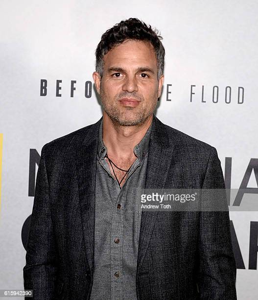 Mark Ruffalo attends the 'Before The Flood' New York premiere at United Nations Headquarters on October 20 2016 in New York City