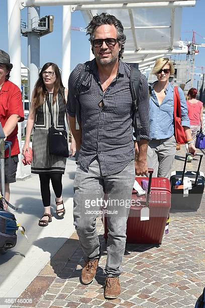 Mark Ruffalo is seen arriving at Venice Airport during The 72nd Venice Film Festival on September 1 2015 in Venice Italy