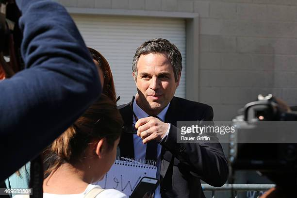 Mark Ruffalo is seen in Hollywood on April 13 2015 in Los Angeles California