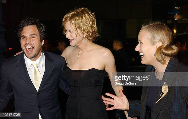 Mark Ruffalo Meg Ryan and Jane Campion during 'In The Cut' Los Angeles Premiere Arrivals at Academy Theatre in Beverly Hills California United States