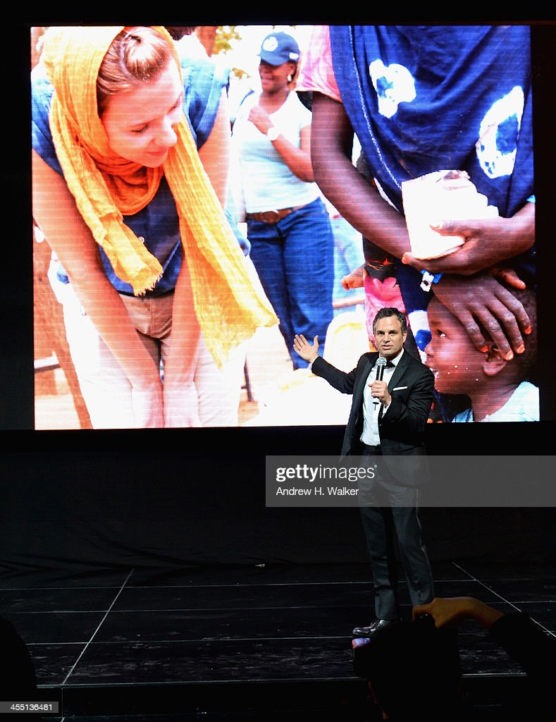 <a gi-track='captionPersonalityLinkClicked' href=/galleries/search?phrase=Mark+Ruffalo&family=editorial&specificpeople=209317 ng-click='$event.stopPropagation()'>Mark Ruffalo</a> speaks on stage at the Oxfam Charity Gala during day six of the 10th Annual Dubai International Film Festival held at the Armani Hotel on December 11, 2013 in Dubai, United Arab Emirates.