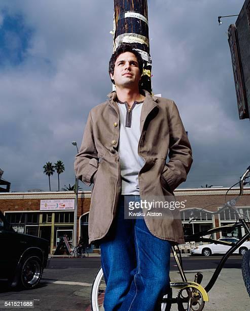 Mark Ruffalo Standing on Street Corner