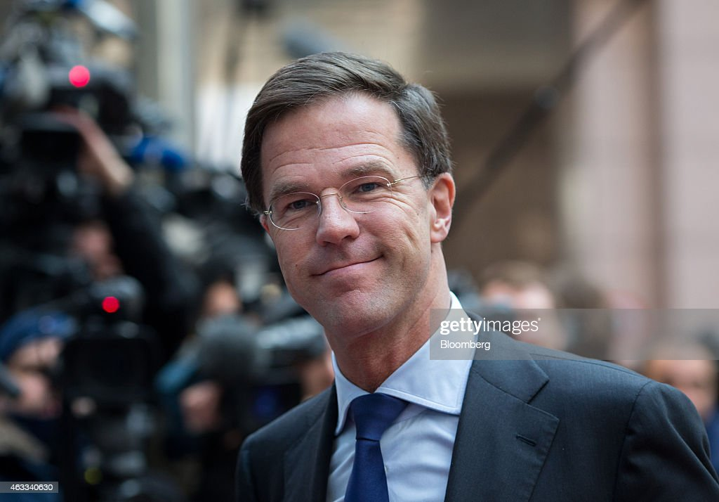 Mark Rutte Dutch prime minister arrives for a European Union leaders summit in Brussels Belgium on Thursday Feb 12 2015 EU leaders will take up the...